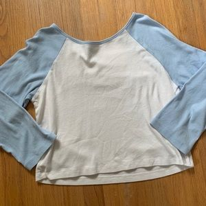 Blue and White Baseball Style Tee Shirt